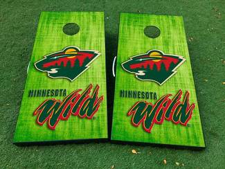 minnesota wild hockey  Cornhole Board Game Decal VINYL WRAPS with LAMINATED