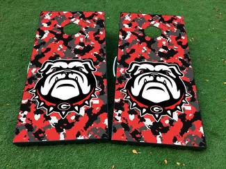 georgia bulldogs football Cornhole Board Game Decal VINYL WRAPS with LAMINATED