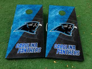 Carolina panthers football Cornhole Board Game Decal VINYL WRAPS with LAMINATED