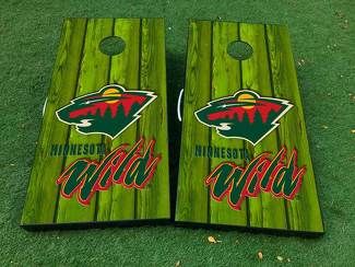 Minnesota wild hockey 1 Cornhole Board Game Decal VINYL WRAPS with LAMINATED