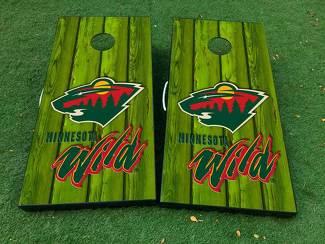 Minnesota Wild Hockey 1 Cornhole Brettspiel Aufkleber VINYL WRAPS mit LAMINATED