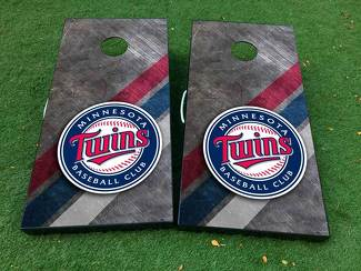 Minnesota twins baseball Cornhole Board Game Decal VINYL WRAPS with LAMINATED