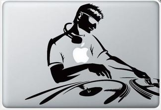 Apple DJ macbook decal sticker