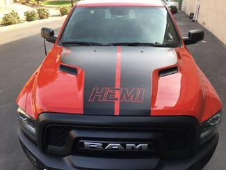 Dodge Ram Hemi Rebel Hood Logo Truck Vinyl Decal Graphic Pickup