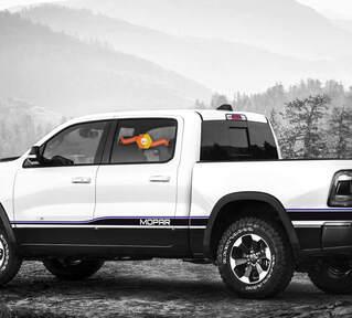 2016 Ram 1500 Rebel Dodge Mopar 2 Farben Abziehbilder Streifen Vinyl Grafiken