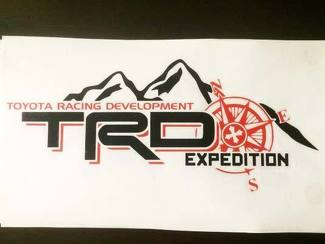 Toyota Racing Development TRD EXPEDITION edition bed side with compass graphic decals stickers