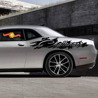 Dodge Challenger Splash Distressed Logo Graphic Vinyl Decal Sticker
