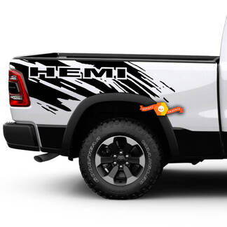 Dodge Ram HEMI Splash Grunge Logo Truck Vinyl Decal bed Graphic