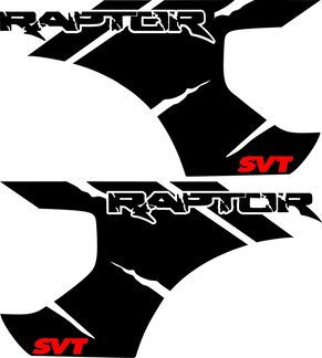 FORD RAPTOR F-150 SVT Bed  Vinyl Graphic decals stickers fits models 2010-2014  2 Colors