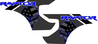 Ford Raptor F-150 AMERICAN FLAG PUNISHER BEDS Graphics  Vinyl Decal