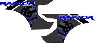 Ford Raptor F-150 AMERIKANISCHE FLAGGE PUNISHER BETTEN Grafik Vinyl Aufkleber