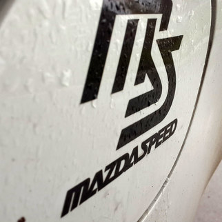 Mazda speed decal Fuel Tank Cap door Vinyl Decal Sticker