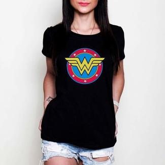Wonder Woman DC comics black or white tees t-shirt