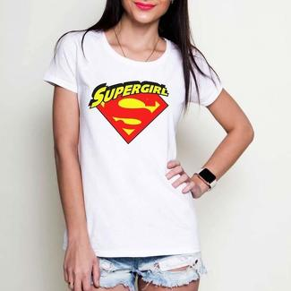Supergirl DC comics white or black tees t-shirt