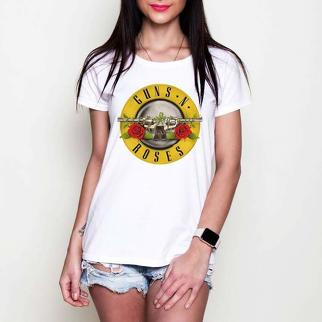 Guns and Roses black or white tees t-shirt
