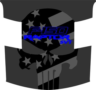 Ford Raptor F-150 Hood Graphics AMERICAN FLAG PUNISHER HOOD Vinyl Decal