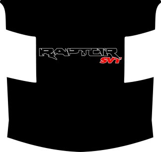 Ford Raptor F-150 Hood Graphics BLACK RED AND WHITE Vinyl Decal