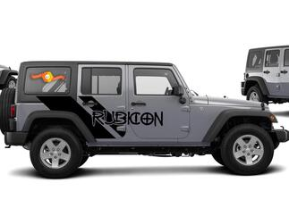 Side Swipe Jeep RUBICON Graphics Vehicle decals, graphics, vinyl stickers