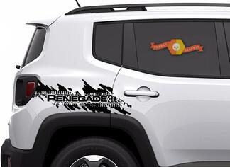 Jeep Renegade Distressed Tire Splash Graphic Hood Window Decal Vehicle Vinyl
