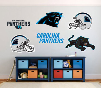 Carolina panthers National Football League (NFL) fan wall vehicle notebook etc decals stickers