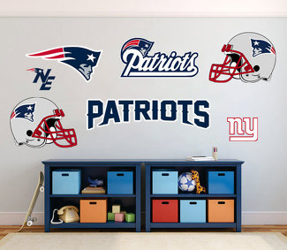 New England Patriots National Football League (NFL) fan wall vehicle notebook etc decals stickers