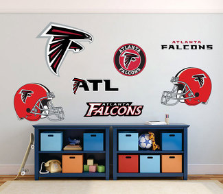 Atlanta Falcons National Football League (NFL) fan wall vehicle notebook etc decals stickers