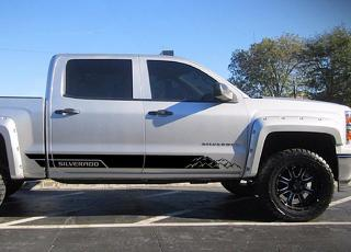 Decal Graphic Vinyl Side Door Stripe Kit for Chevrolet Silverado 1500 Off-Road