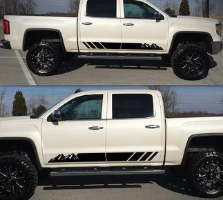 Decal Sticker Side Stripe Kit for GMC Sierra 1500 Headlight Flare Hood Off Road