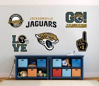 The Jacksonville Jaguars  American professional football team National Football League (NFL) fan wall vehicle notebook etc decals stickers