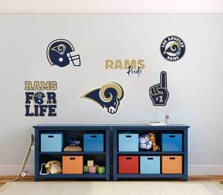 The Los Angeles Rams professional American football team National Football League (NFL) fan wall vehicle notebook etc decals stickers