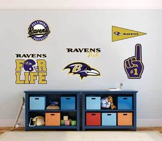 The Baltimore Ravens professional American football team National Football League (NFL) fan wall vehicle notebook etc decals stickers