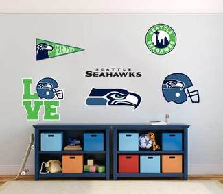 The Seattle Seahawks professional American football team National Football League (NFL) fan wall vehicle notebook etc decals stickers
