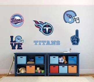 Tennessee Titans professional American football team National Football League (NFL) fan wall vehicle notebook etc decals stickers