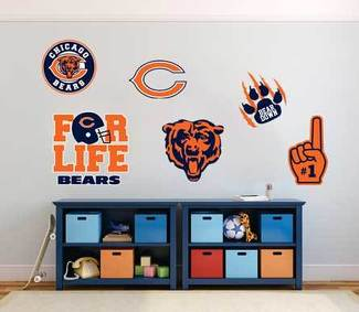 Chicago Bears professional American football team National Football League (NFL) fan wall vehicle notebook etc decals stickers