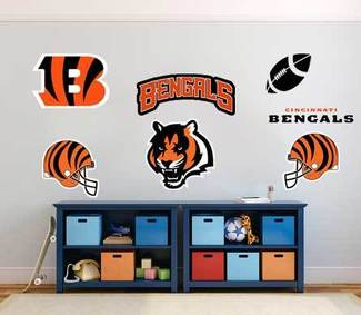 Cincinnati Bengals professional American football team National Football League (NFL) fan wall vehicle notebook etc decals stickers