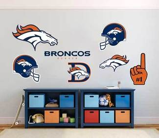 Denver Broncos professional American football team National Football League (NFL) fan wall vehicle notebook etc decals stickers