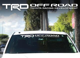 Toyota TRD Windshield off road Racing Development 4x4 Decal Sticker Cut Vinyl FS