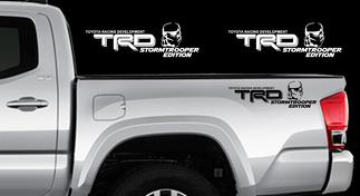 TRD STORMTROOPER EDITION Decals Toyota Tacoma Tundra Star Wars Vinyl Sticker X2