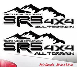 Toyota SR5 4x4 All Terrain Off Road Racing Tacoma Tundra Sticker Decal Vinyl sr5