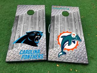 American football teams National Football League (NFL) Cornhole Board Game Decal VINYL WRAPS with LAMINATED