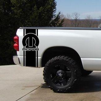 Mopar Bettstreifen Aufkleber Satz von (2) für Pickup Truck Pickup Truck Bettstreifen Ford Dodge Toyota Chevy Nissan Pickup