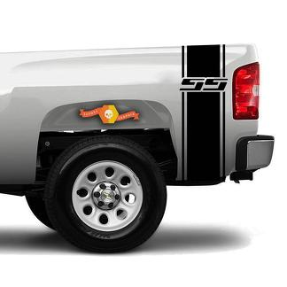 Chevrolet Silverado SS 4x4 Bed Stripe Decal Set of (2) for Chevy Pickup Truck