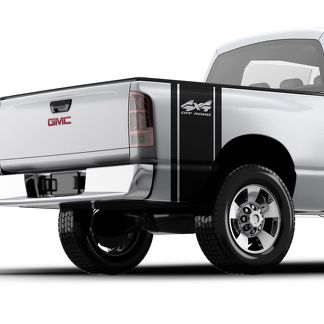 Pickup truck vinyl bed sticker decal GMC , Ford , Toyota , F-150 F-250 4x4
