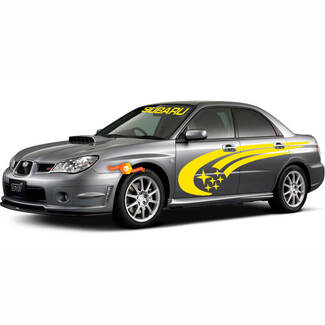 Subaru Rally Racing Side Stripes Graphics Impreza STI WRX 555 Universal Decals