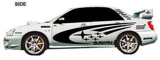 SUBARU IMPREZA WRX STI WRC FULL RALLY STARS VINYL DECALS KIT ANY COLOR Full size