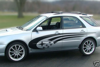 Subaru Impreza STi WRX Legacy Side Panel Stripes Vinyl Decals racing decal kit