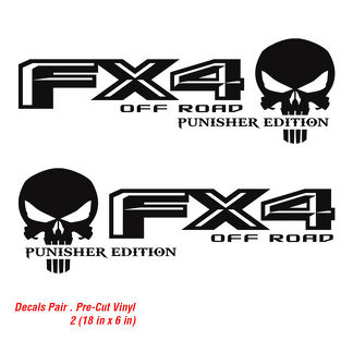 Ford F 150 FX4 Off Road Truck f150 Punisher Decals Vinyl Decal 2015 2016 2017