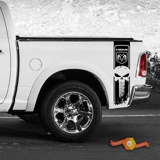 Dodge Ram 1500 2500 3500 Punisher Rennstreifen Hemi 4x4 Aufkleber LKW-Ladefläche Aufkleber Vinyl