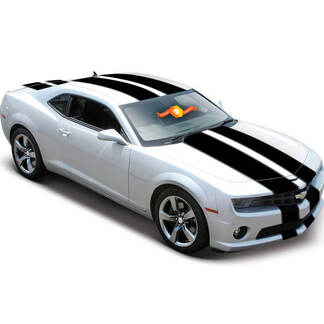 2010 - 2020 Chevy Camaro Tapered Double Rally Racing Stripes Decal 2012 2011 SS V6