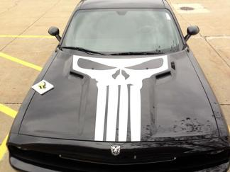 2015 2016 2017 Dodge Challenger  Punisher  Hood Decal Stripe Blackout